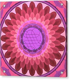 Purple Mandala Acrylic Print by Vlatka Kelc