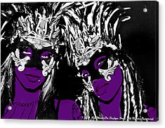Purple Mask Acrylic Print by Ley Clarie Gray
