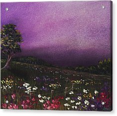 Purple Meadow Acrylic Print by Anastasiya Malakhova