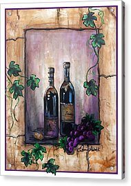Hazy Purple Memories Acrylic Print by Dani Abbott