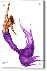 Purple Merman Acrylic Print