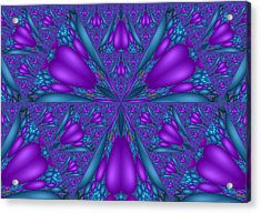 Purple Mixed Fractal Flower Acrylic Print
