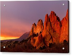 Purple Morning At Garden Of The Gods Acrylic Print