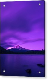 Purple Mountain Majesty Acrylic Print by Lori Grimmett