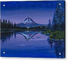 Purple Mountain Acrylic Print