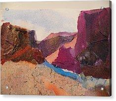 Purple Mountains Acrylic Print by Lori Chase