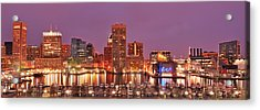 Purple Night In Baltimore Acrylic Print
