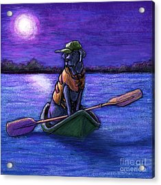Purple Night Acrylic Print by Kathleen Harte Gilsenan