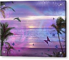 Purple Ocean Dream Acrylic Print