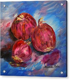 Purple Onions Acrylic Print by Barbara Pirkle
