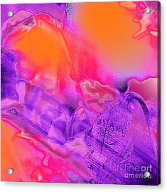 Purple Orange Pink Abstract Acrylic Print