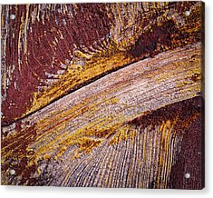 Purple Painted Wood Acrylic Print by Jozef Jankola