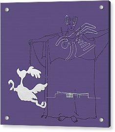 Purple Palm Springs Idyll Acrylic Print