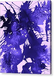 Purple Passion Acrylic Print by Ellen Levinson