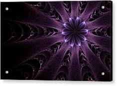 Purple Passion Acrylic Print by GJ Blackman