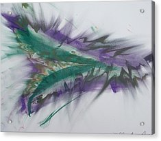 Purple Passion Acrylic Print by Martin Fried MD