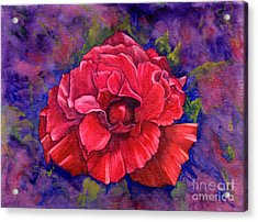 Acrylic Print featuring the painting Purple Passion by Nancy Cupp