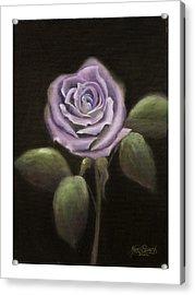 Purple Passion Acrylic Print by Nancy Edwards
