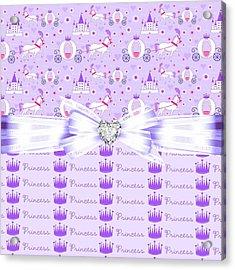 Purple Passion Princess  Acrylic Print by Debra  Miller