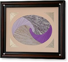 Acrylic Print featuring the mixed media Purple Passion by Ron Davidson
