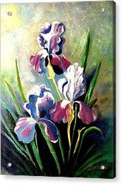 Purple Passion Acrylic Print by Zelma Hensel