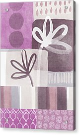 Purple Patchwork- Contemporary Art Acrylic Print