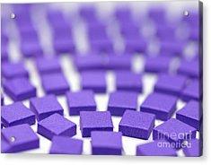 Purple Pattern Acrylic Print by Amy Cicconi