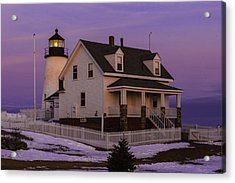 Purple Pemaquid Acrylic Print
