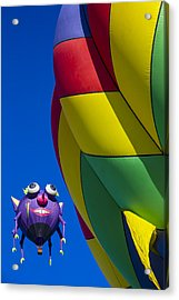 Purple People Eater Smiling Acrylic Print by Garry Gay