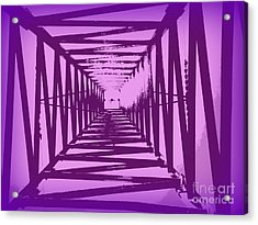 Purple Perspective Acrylic Print by Clare Bevan