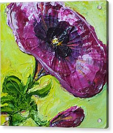 Purple Petunia Acrylic Print by Paris Wyatt Llanso