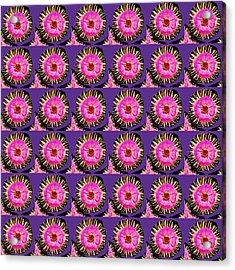 Purple Pink Flower Pattern Decoration Background Designs  And Color Tones N Color Shades Available F Acrylic Print by Navin Joshi