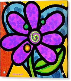 Purple Pinwheel Daisy Acrylic Print