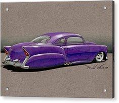 Purple Pleaser Power Acrylic Print by Paul Kim