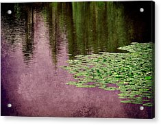 Purple Pond Reflections Acrylic Print