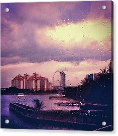 Acrylic Print featuring the photograph Purple Rain by Yen