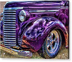 Purple Acrylic Print by Ron Roberts