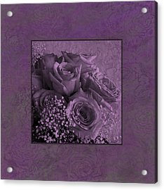 Acrylic Print featuring the photograph Purple Roses Delight by Sandra Foster