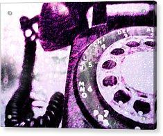 Purple Rotary Phone Acrylic Print by Jon Woodhams