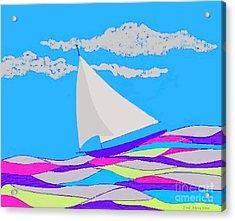 Purple Sailboat Acrylic Print
