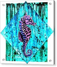 Purple Seahorse Acrylic Print