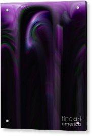 Purple Shadows Acrylic Print by Patricia Kay