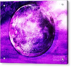 Purple Side Of The Moon Acrylic Print by Mindy Bench