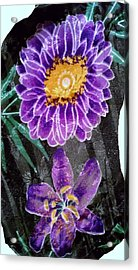 Acrylic Print featuring the photograph Purple Silk by Fortunate Findings Shirley Dickerson