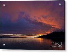 Purple Skies Acrylic Print by Heiko Koehrer-Wagner