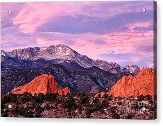 Purple Skies Over Pikes Peak Acrylic Print by Ronda Kimbrow
