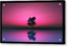 Purple Sky... Acrylic Print by Tim Fillingim