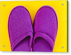 Purple Slippers Acrylic Print