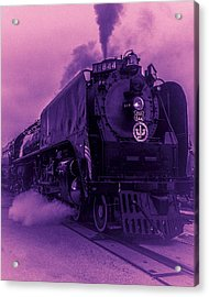 Purple Smoke Acrylic Print