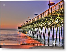 Acrylic Print featuring the photograph Purple Sunrise by Ed Roberts